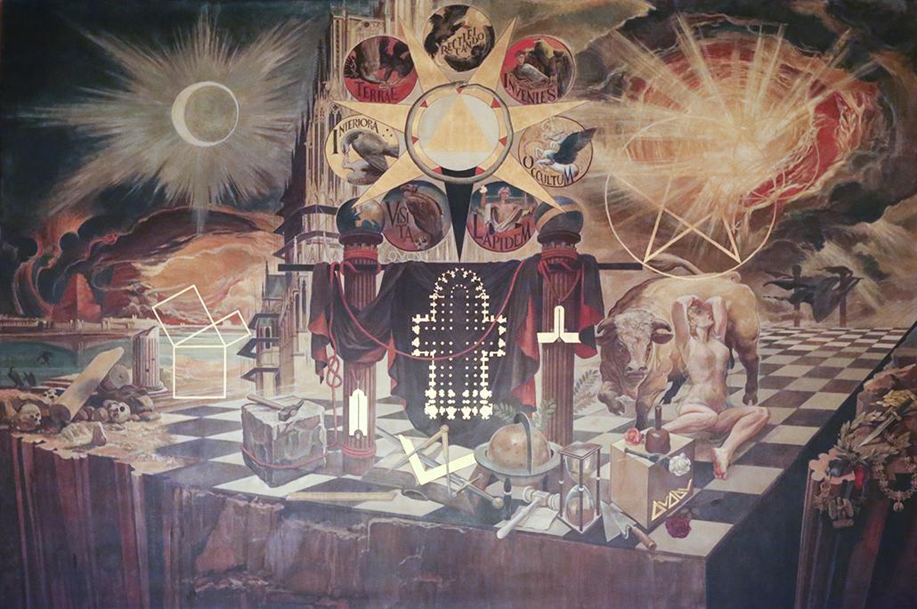 Freimaurer Wandgemälde Köln